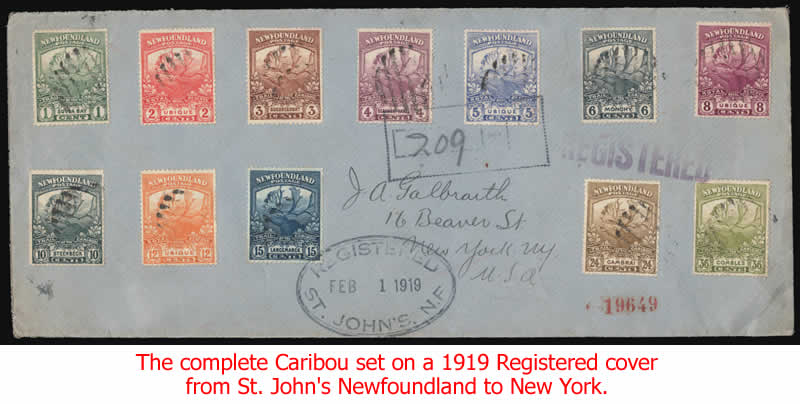 Caribou set on 1919 cover
