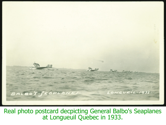 Real photo card of Balbo's Seaplanes