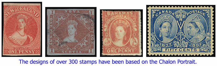 Stamps based on Chalon Portrait