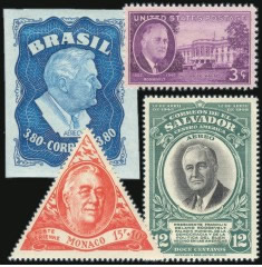 Stamps depicting FDR