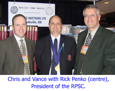 Chris and Vance with Rick Penko, President of the RPSC.